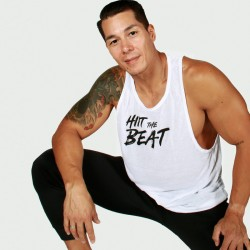 Hiit The Beat Gym Tank white